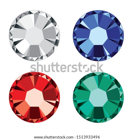 Full vector diamond strass isolated on a white background