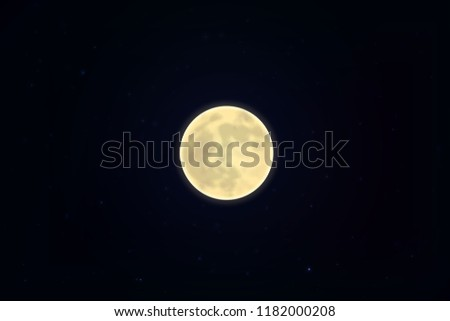 full white moon isolated on