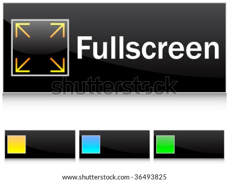Full Screen Icon Vector Full Screen Icon Vector Fullscreen Buttons Stock