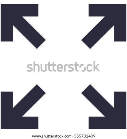 Fullscreen Vector Icon  Foto stock ©