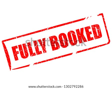 Fully booked rectangular stamp isolated on white background