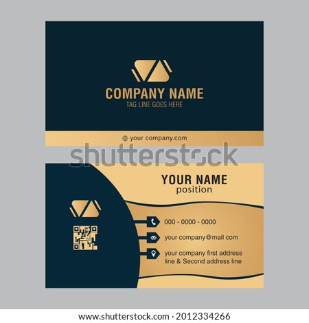 Fully Editable business card and visiting card, Simple, Modern,Element  Name Card  Foto stock ©