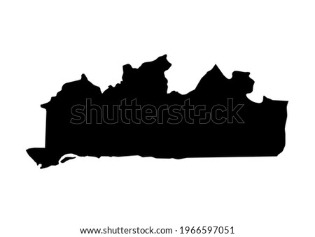 Fully editable, detailed vector map of Bas-Congo,Province du Bas-Congo,Democratic Republic of the Congo. The file is suitable for editing and printing of all sizes. Stockfoto ©
