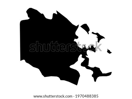Fully editable, detailed vector map of Bocas del Toro,Provincia de Bocas del Toro,Panama. The file is suitable for editing and printing of all sizes. Foto stock ©