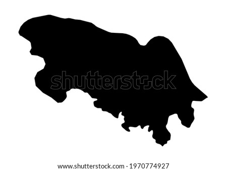Fully editable, detailed vector map of Bueng Kan,Changwat Bueng Kan,Thailand. The file is suitable for editing and printing of all sizes. Stockfoto ©