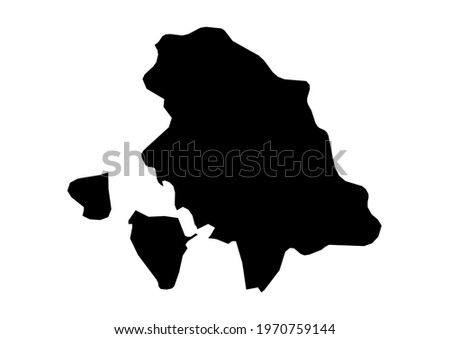 Fully editable, detailed vector map of Carbonia-Iglesias,Provincia di Carbonia-Iglesias,Italy. The file is suitable for editing and printing of all sizes. Foto stock ©