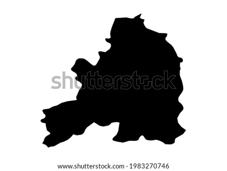 Fully editable, detailed vector map of Guarda,Distrito da Guarda,Portugal. The file is suitable for editing and printing of all sizes.  Foto stock ©