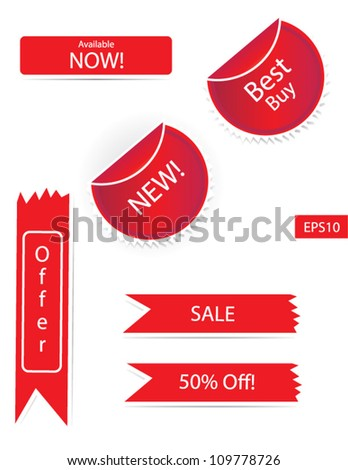 Fully editable Sticker Sets Vector isolated in white background