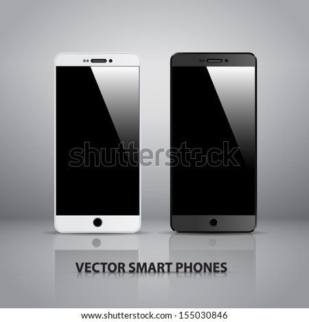 Fully editable vector concept of smart phone.