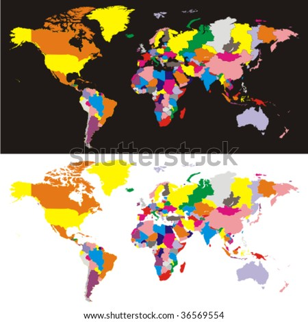 Blank World Map Of Countries. lank world map outline with