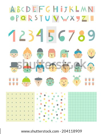 fun and cute paper cut alphabet