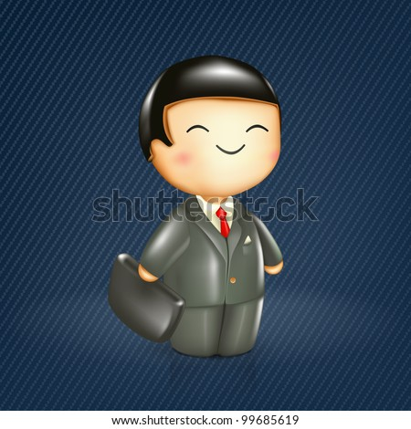 Fun Businessman, vector