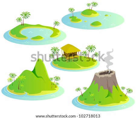 fun cartoon map elements