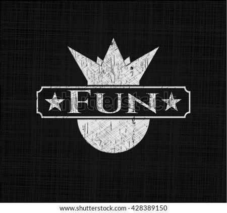 Fun chalk emblem