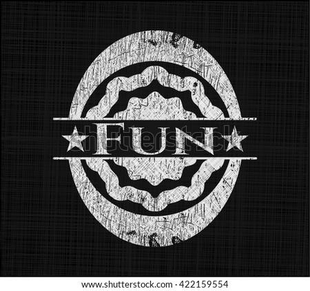 Fun chalkboard emblem