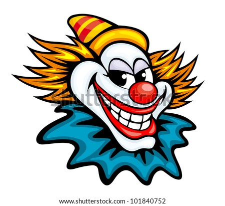 Fun circus clown in cartoon style for humor entertainment design. Jpeg version also available in gallery