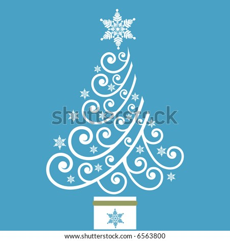 fun coil christmas tree vector
