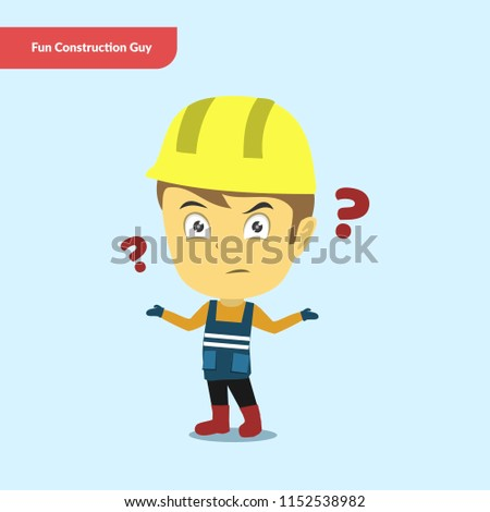 Fun Construction Guy Character Set
