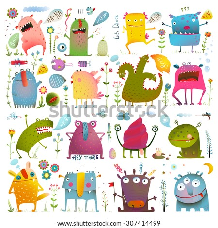 fun cute cartoon monsters for