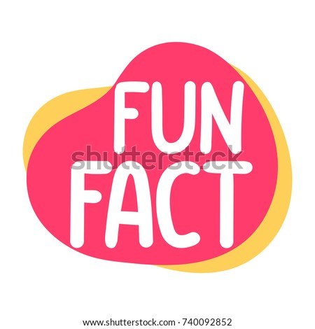 Fun fact. Vector illustration on white background.