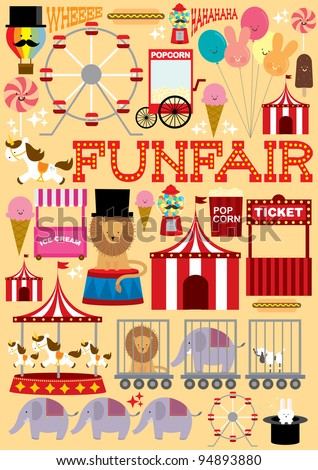 fun fair illustration/vector