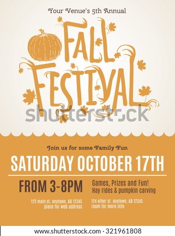 fun fall festival invitation