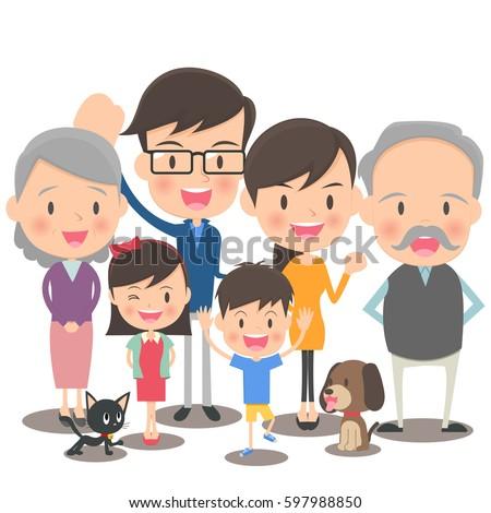 Fun family illustration