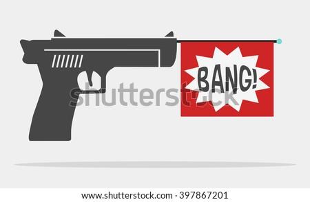 fun message gun for advertise