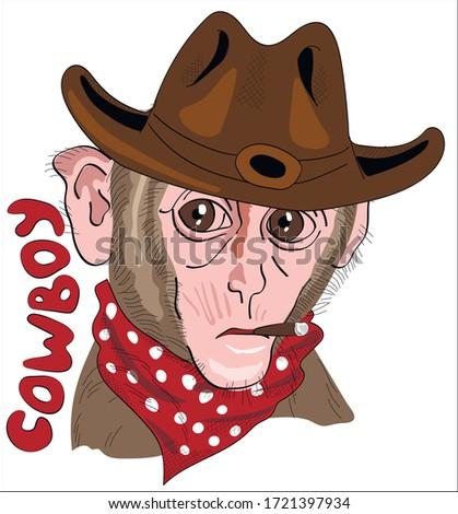 fun monkey cowboy costume