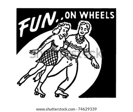 Fun On Wheels - Retro Ad Art Banner