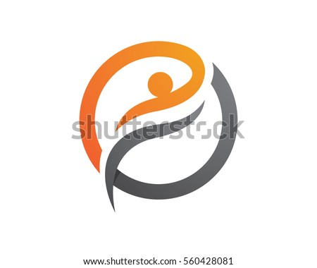 Fun people Healthy Life Logo template vector icon #560428081