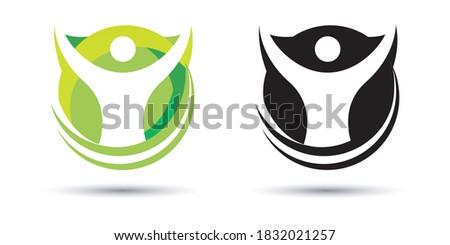 Fun people Healthy Life Logo template vector icon, community, creative hub, social connection icon