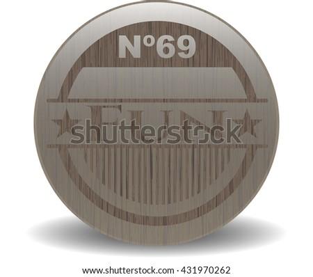 Fun retro style wood emblem