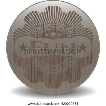 Fun vintage wooden emblem