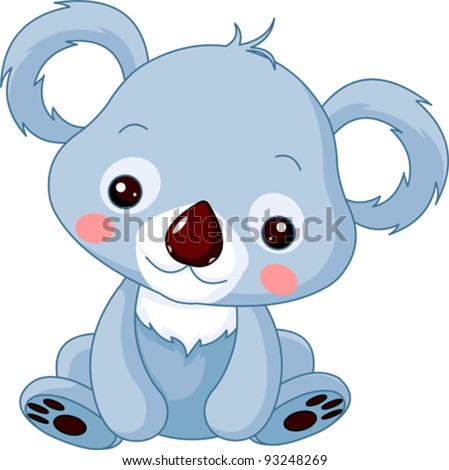 Fun zoo Illustration of cute Koala Bear