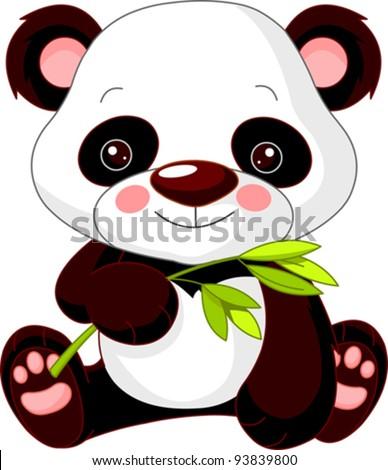Fun zoo. Illustration of cute Panda