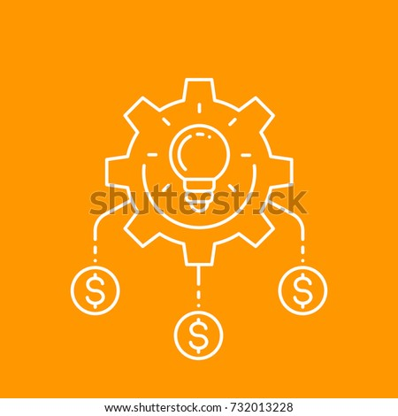 funding, innovations, invest in idea, crowdfunding project vector icon