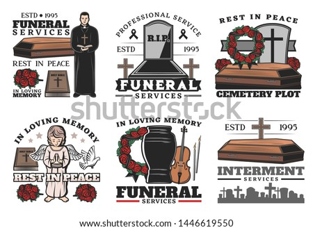 funeral service coffin at