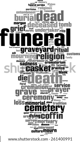 funeral word cloud concept