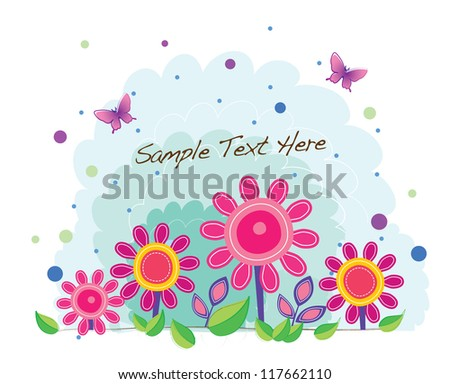 funky background series (spring floral)