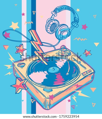 funky colorful drawn music