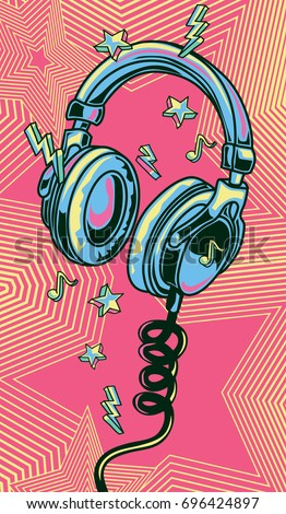 funky colorful drawn musical