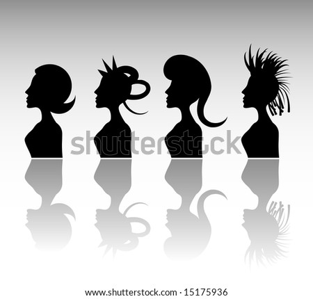 Funky Hairstyle Set 5. abstract
