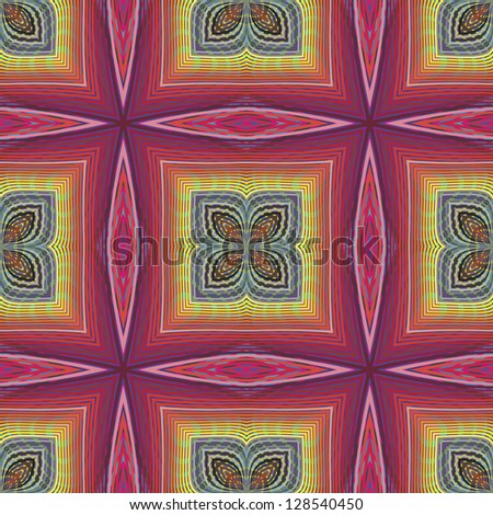 Funky pop art disco pattern in vector art with optic and psychedelic illusion due to two lacy textures on top of each other, seamless