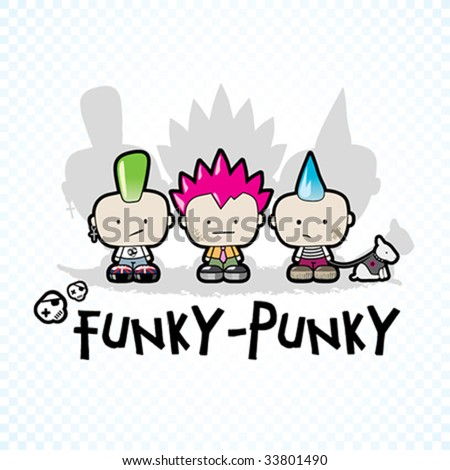Funky - Punky Vector Illustration #33801490