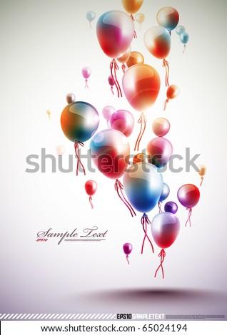 funky vector balloons