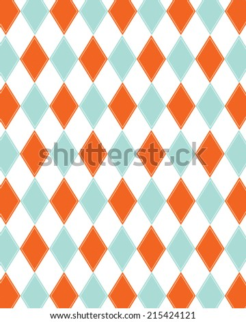 funky vector retro orange and