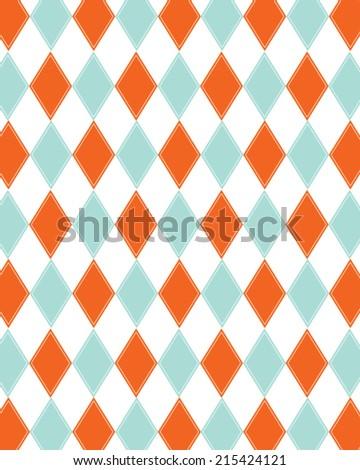 funky vector retro orange and