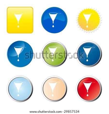 Funnel web button