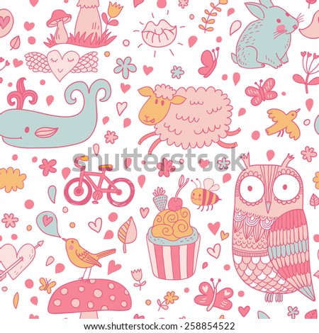 funniest seamless pattern with